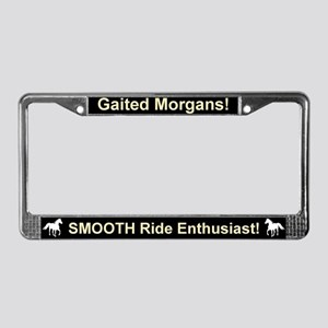 Gaited Morgan License Plate Frame