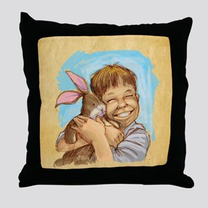 Velvet-Rabbit 4 Throw Pillow