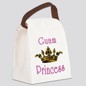 Guam Princess with Tiara Canvas Lunch Bag