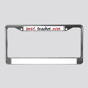best-teacher-ever License Plate Frame