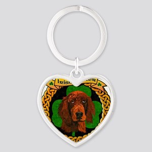 --CELTIC-IRISH-SETTER-SMALL Heart Keychain