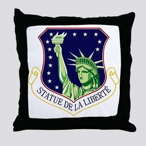 48th FW - Statue De La Liberte Throw Pillow