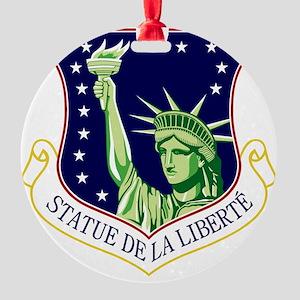 48th FW - Statue De La Liberte Round Ornament