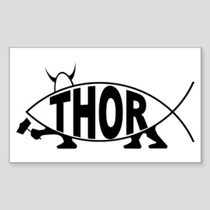Thor Fish Rectangle Sticker