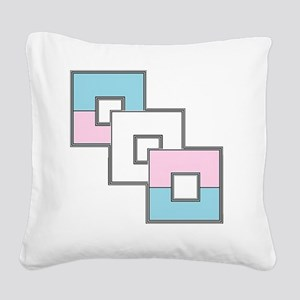 Transgender Pride Square Canvas Pillow