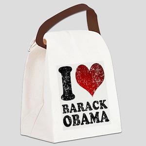 I Love Barack Obama Canvas Lunch Bag