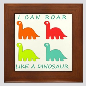 4 Dinosaurs Framed Tile