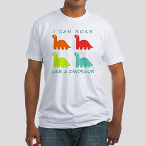 4 Dinosaurs Fitted T-Shirt