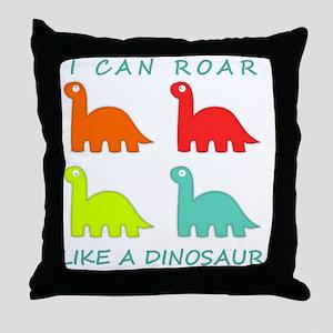 4 Dinosaurs Throw Pillow