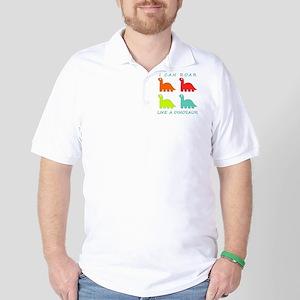4 Dinosaurs Golf Shirt