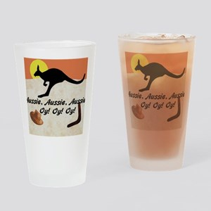 Kagaroo Jillo, Aussie, Aussie, Auss Drinking Glass