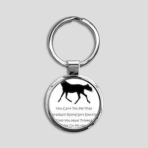 exercise_horse Round Keychain