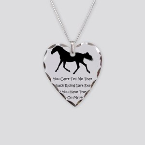 exercise_horse Necklace Heart Charm