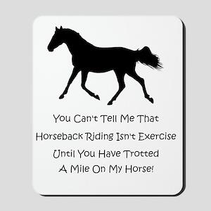 exercise_horse Mousepad