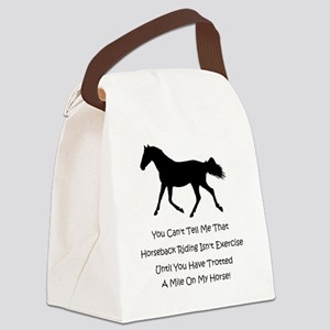 exercise_horse Canvas Lunch Bag