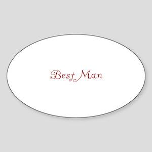 Best Man - Red Flirt Oval Sticker