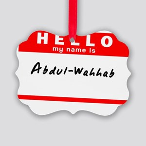 Abdul-Wahhab Picture Ornament
