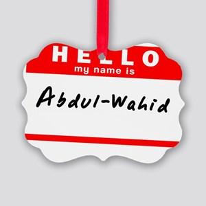 Abdul-Wahid Picture Ornament
