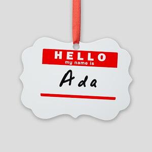 Ada Picture Ornament