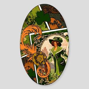 VINTAGE-IRISH-B-IPAD-SLEEVE Sticker (Oval)