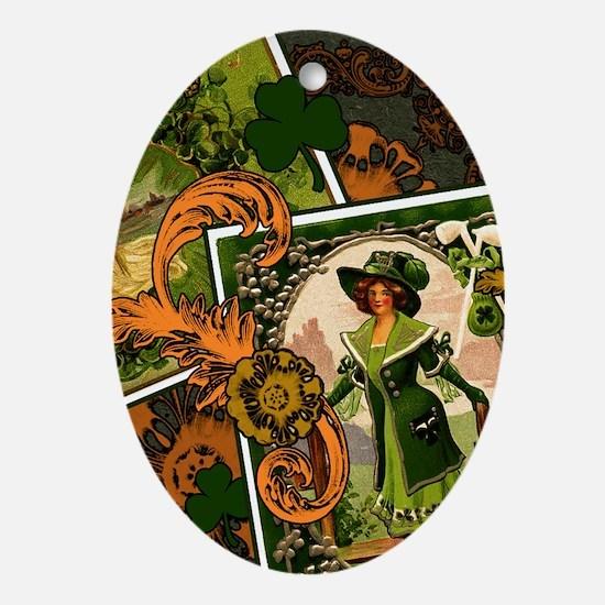 VINTAGE-IRISH-B-IPAD-SLEEVE.gif Oval Ornament