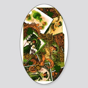 VINTAGE-IRISH-IPHONE-3G- Sticker (Oval)