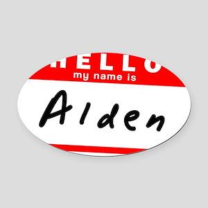 Alden Oval Car Magnet