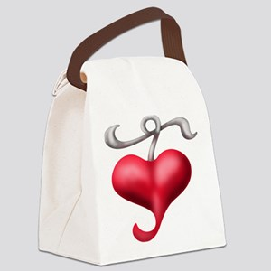 Have A Heart Canvas Lunch Bag