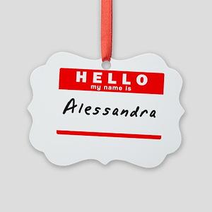 Alessandra Picture Ornament