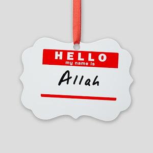 Allah Picture Ornament