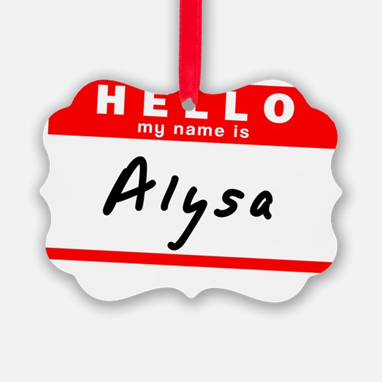 Alysa Ornament