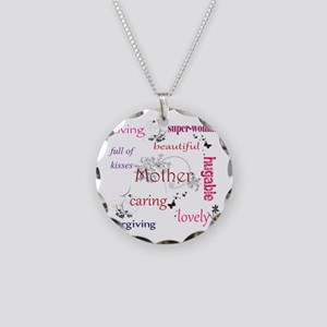 Mother Necklace Circle Charm