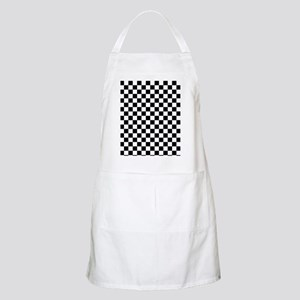 black checkered board Apron