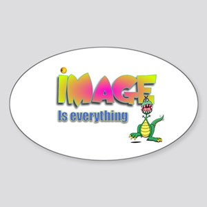 Image.:-) Oval Sticker
