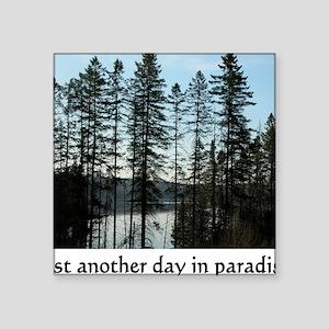 "paradise Square Sticker 3"" x 3"""