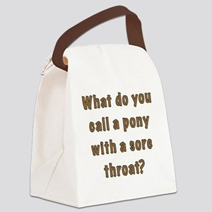 sore throat FRONT Canvas Lunch Bag