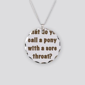 sore throat FRONT Necklace Circle Charm