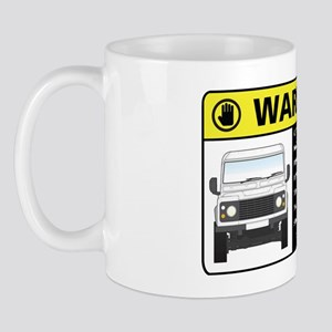 Rover Warning Sticker Mug