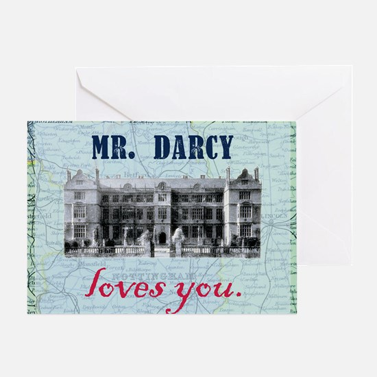 newcard 073 mr darcy loves you Greeting Card