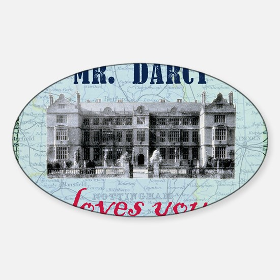 newcard 073 mr darcy loves you Sticker (Oval)