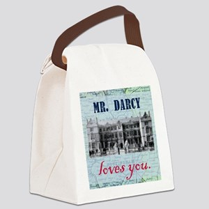 newcard 073 mr darcy loves you Canvas Lunch Bag
