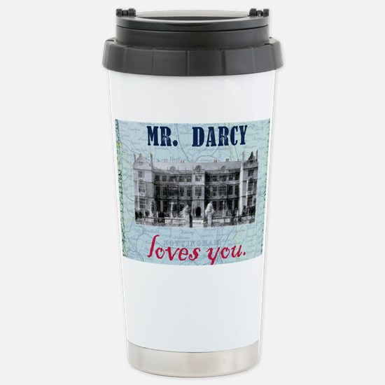 newcard 073 mr darcy loves you Stainless Steel Tra