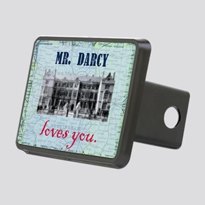 newcard 073 mr darcy loves Rectangular Hitch Cover