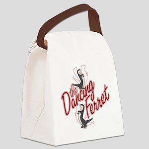 The Dancing Ferret (dark) Canvas Lunch Bag