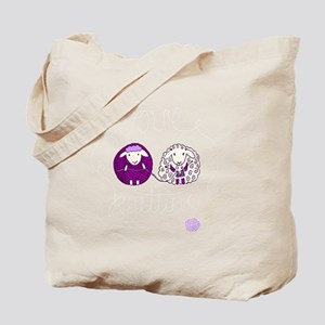 cute sheep couple knitting Tote Bag