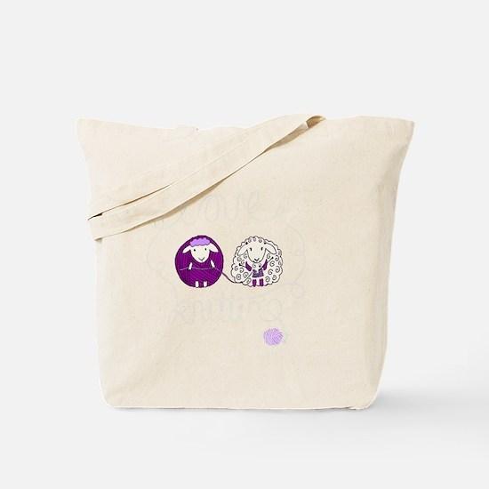 cute sheep couple knitting Tote Bag