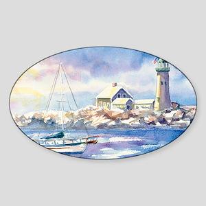 1ScituateHarborWSigCARD Sticker (Oval)