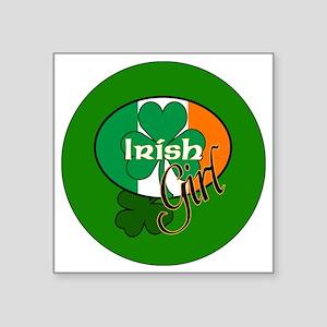 "IRISH-GIRL-3-INCH-BUTTON Square Sticker 3"" x 3"""