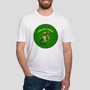 KISS-MY-ASS-BUTTON Fitted T-Shirt