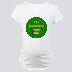 TO-HELL-WITH-YOU-BUTTON Maternity T-Shirt